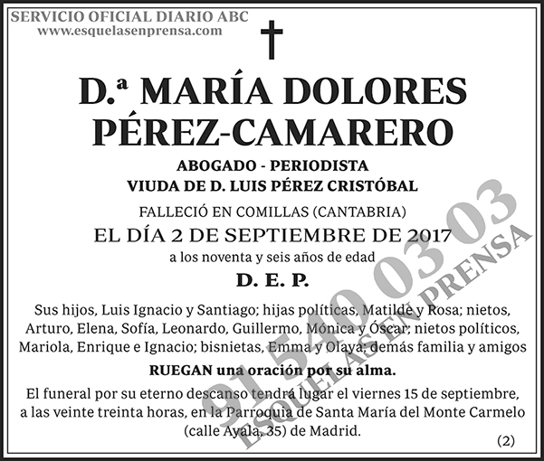 María Dolores Pérez-Camarero